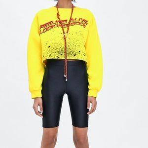 Zara cropped sweatshirt NWT